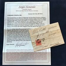 Italy Lombardy-Venetia 1851 Local Cover - Rare Piazza Cancel - w/ Certificate