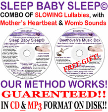 SLEEP BABY SLEEP MUSIC BOX - CD & mp3 s -Heartbeat Womb Sounds LULLABIES NURSERY