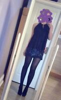 Hollister Sequin Skirt Black Size 3 Short Mini Size 8 Uk Worn Once Club Party