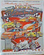 Tony Stewart Salute to Champion 28X23.5 HOF Poster World of Outlaws Sprint Car