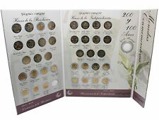 Mexico 5 Peso Coin Set 37 PCS, 2008-2010,Mint,Revolution & Independence w/Folder