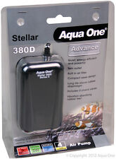 Aqua One A1-94136 Stellar 380D Air Pump 2x190L/h for Aquariums, Marine Tanks