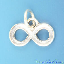 INFINITY MATH SYMBOL ETERNITY 925 Solid Sterling Silver Charm Pendant LEMNISCATE