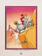 Affiche, Spirou et Fantasio : Side-car  60 x 80 cm