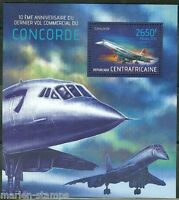 CENTRAL AFRICA 2013 10th ANNIVERSARY OF THE LAST CONCORDE FLIGHT S/S MINT NH