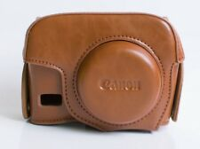 (BROWN) Camera Leather Compact Case Pouch Bag For PowerShot G15 G16 + FREE STRAP