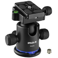 Phot-R 360° Pan Ball Head 8kg Load Camera Tripod Monopod Quick Release QR Plate