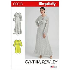 SIMPLICITY SEWING PATTERN CYNTHIA ROWLEY S9013 MISSES' DRESSES IN TWO LENGTHS