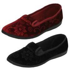 Zapatillas de andar textil de color principal negro por casa de mujer
