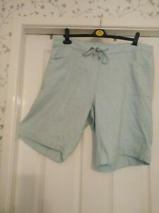 Turquoise Blue Elasticated Waist Shorts  By George Size 18