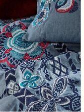 New Anthropologie Home Bedding Queen Duvet Inouitoosh Embroidered & Euro Sham