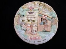 Beautiful Detailed Precious Moments - O Come Let Us Adore Him - 3D Plate