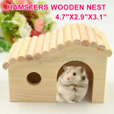 Small Hamster House Hamsters Nest Wooden Non-toxic Durable Cute Pets House