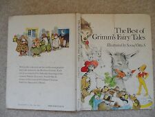 BEST GRIMMS FAIRY TALES~Svend Otto S~1979 HC~Puss Boots~Tom Thumb~Wolf 7 Kids~