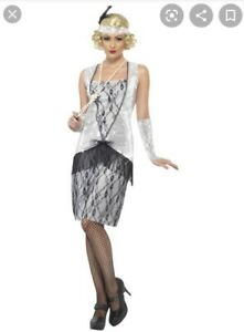 Smiffys Ladies Fancy Dress Flapper Girl Costume Size Medium 12-14