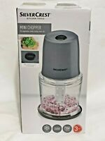 SilverCrest Mini Chopper Vegetables Nuts Crumble Ice Crush 300ml 260W New Sealed