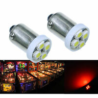 PA 30x #1893 #44 #47 #1847 BA9S 4 SMD LED Pinball Machine Light Bulb Red 6.3V