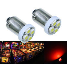 50x #1893 #44 #47 #1847 BA9S 4SMD LED Pinball Machine Light Bulb Red 6.3V P2