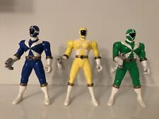 Power Rangers Lightspeed Rescue Figures Bandai Yellow Blue And Green