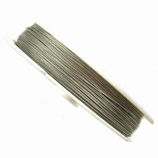 100 Metres Silver Tigertail Wire 0.38mm - Beading Wire