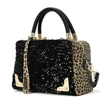 Damen Handtaschen Schultertaschen Leopard Tragetasche Messenger Club Party