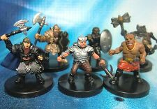 Dungeons & Dragons Miniatures Lot  Dwarf Player Characters Elite !!  s101