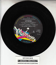 "GEORGE SMILOVICI  Spewing 7"" 45 rpm vinyl record + juke box title strip"
