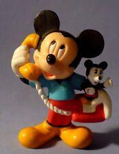 VINTAGE  DISNEY MINIATURE MICKEY ON MICKEY PHONE APPLAUSE PVC FIGURE VGC