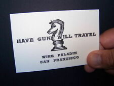 HAVE GUN WILL TRAVEL / TV show size CARDS! Amazing Quality!! (TWO CARDS)