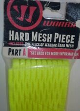 *New* Warrior Part A: Hard Mesh Piece Neon Yellow Lacrosse Head replacement net