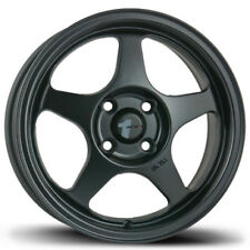 15X6.5 Avid.1 AV08 4x100 +35 Matte Black Rims (New Set)