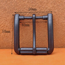 Belt Buckle Fit 40mm Belt Strap Antiqued Black Quality Solid Single Prong Roller
