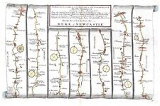 Antique map, The Road from London to Carlisle plate 037