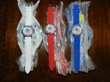 Blue, White, Red Wholesale lot New Geneva clear crystal watch 30x American flag