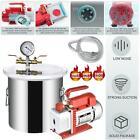 1 Gallon Vacuum Degassing Chamber Silicone Kit & 3 CFM Single Stage Pump Hose