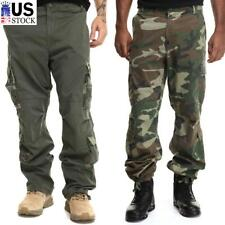 Men's Combat Trousers Camouflage Tactical Cargo Pants Work Outdoor Army Pants US