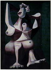 PABLO PICASSO 1950s VERY RARE ANTI NAZI LITHO PRINT with COA unique Picasso item