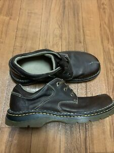 Dr. Martens Mens Split Toe Brown Leather Oxfords Lugs Shoes Size 11 8b76