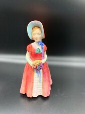 "Royal Doulton ""Diana"" Vintage Figurine Girl With Flowers Hn 1986 Bone China#2"