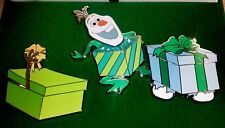 DISNEY WDI 2017 CHRISTMAS CAST MEMBER  OLAF FROZEN LE 200 2 PIN HOLIDAY BOX SET