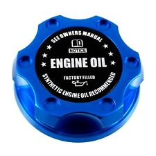 Blue Racing Engine Oil Cap Filler - Factory Filled  Emblem For Ford 1/4 Turn