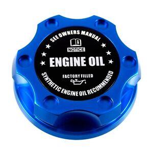 Blue Racing Engine Oil Cap Filler - Factory Filled  Emblem For Ford 1/4 Turn
