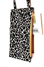 Travelon Cross Body Shoulder Neck  Wallet LEOPARD Purse Bag Passport Organizer
