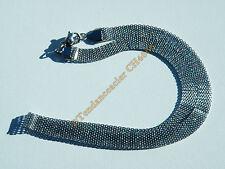 Chaine Collier Ras De Cou 46 cm Acier Inoxydable Cote de Maille Serpentine 8 mm