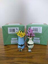 Boyds 1E Treasure Boxes Aprils'S Bouquet & Heather'S Bouquet New w Boxes!