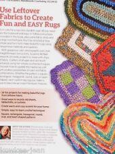 Crochet Rag Rugs Design Originals instruction book by Suzanne McNeill 48pgs
