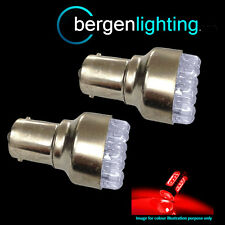 2X LAND ROVER DEFENDER LED STOP & TAIL BULB 1157 380 RED -LED12R