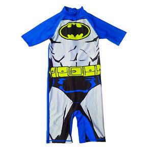 Official DC Comics Batman Kids Sun Swim Suit Childrens UV Protection Swimwear