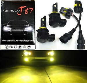 LED Kit M10 100W 9005 HB3 3000K Yellow Two Bulb Head Light Dual Beam Replacement