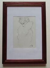 GUSTAV KLIMT DAMENBILDNIS im Holzrahmen Reproduktion Kunstdruck art print